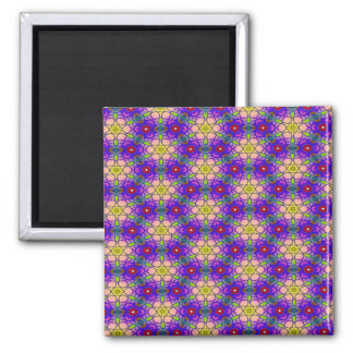 Abstract Pattern Pretty Green Lilac And Red Magnet