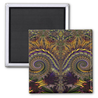 Abstract Pattern Purple And Brown Magnet