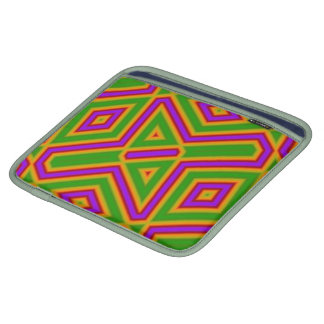ABstract Pattern purple green Sleeves For iPads