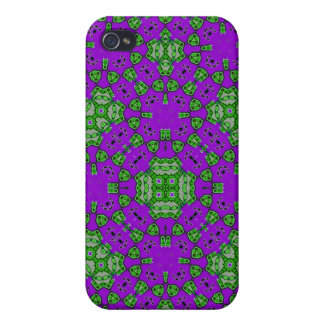 Abstract Pattern Purple Green iPhone 4/4S Covers
