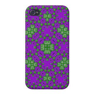 Abstract Pattern Purple Green iPhone 4 Case