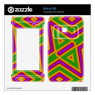 Abstract Pattern purple green Decal For Nokia N8