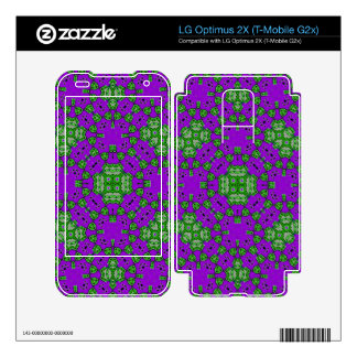 Abstract Pattern Purple Green Skin For LG Optimus 2X