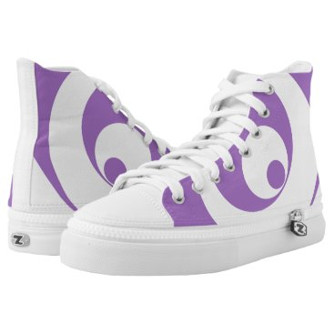 Art Themed Abstract pattern - purple. High-Top sneakers