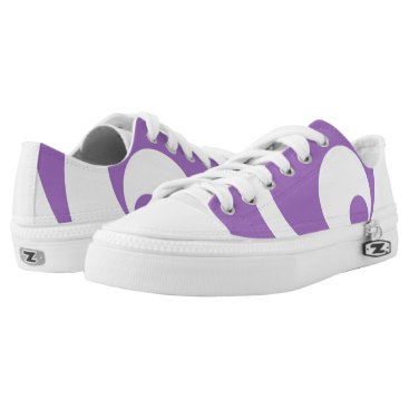 Art Themed Abstract pattern - purple. Low-Top sneakers
