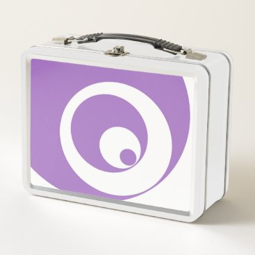 Art Themed Abstract pattern - purple. metal lunch box