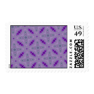 Abstract Pattern Purple Postage Stamps