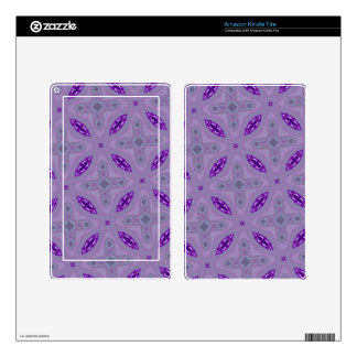 Abstract Pattern Purple Kindle Fire Decals