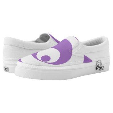 Art Themed Abstract pattern - purple. Slip-On sneakers