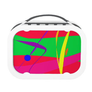 Abstract Pattern Red and Green Contrast Lunchboxes