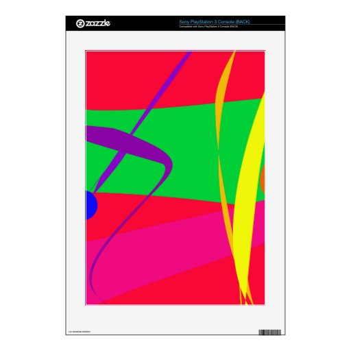 Abstract Pattern Red and Green Contrast PS3 Decals