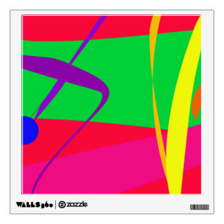 Abstract Pattern Red and Green Contrast Wall Decal