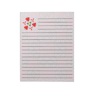 Abstract Pattern red Notepad
