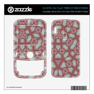 Abstract Pattern Red ALCATEL Tribe Skin
