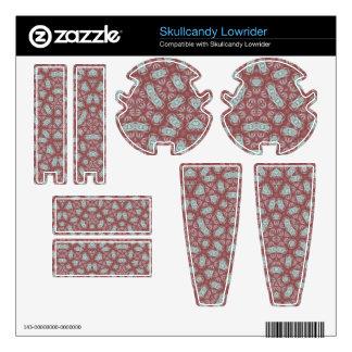 Abstract Pattern Red Skullcandy Lowrider Skin