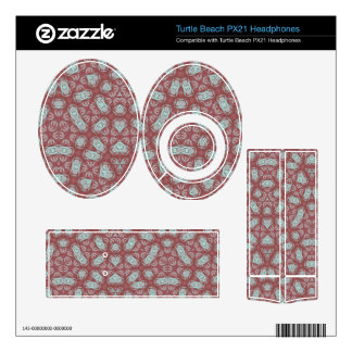 Abstract Pattern Red Turtle Beach Px21 Skin