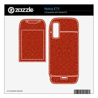 Abstract Pattern red Skin For Nokia E75