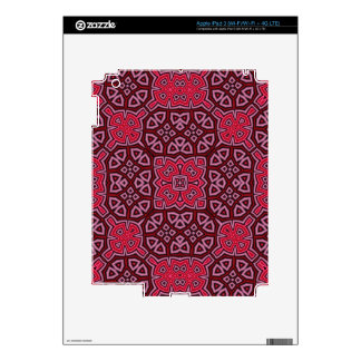 Abstract Pattern red Skin For iPad 3