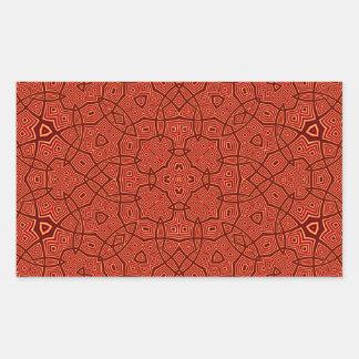 Abstract Pattern Red Rectangular Sticker
