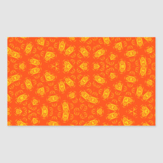 Abstract Pattern red yellow Rectangular Sticker