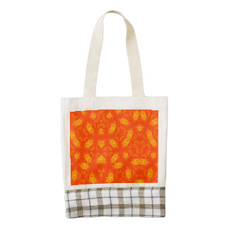 Abstract Pattern red yellow Zazzle HEART Tote Bag