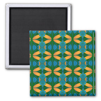 Abstract Pattern Seamless Blue Brown And Green Magnet