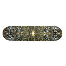 Abstract pattern skateboard