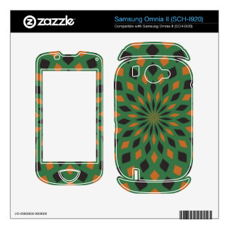 Abstract pattern skin for samsung omnia II