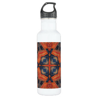 Abstract Pattern Stainless Steel Water Bottle