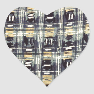 abstract pattern heart sticker