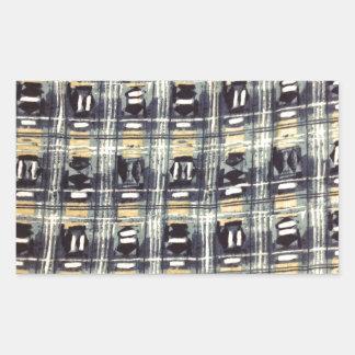 abstract pattern rectangular sticker