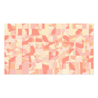 Abstract Pattern Terracotta, Pink & Cream Colors. Double-Sided Standard Business Cards (Pack Of 100)