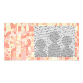 Abstract Pattern Terracotta, Pink & Cream Colors. Card