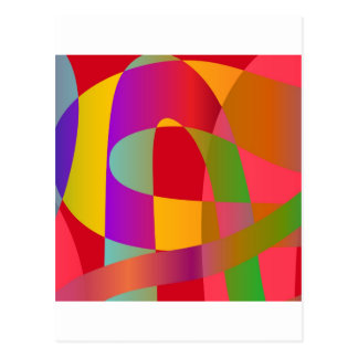 Abstract pattern with bright stylish serpentine postcard