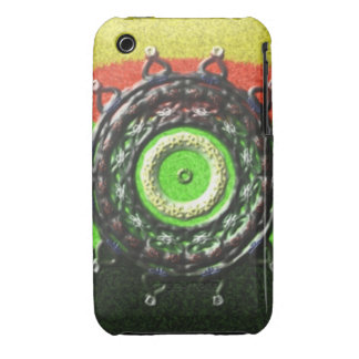 Abstract pattern with circle shapes iPhone 3 cases