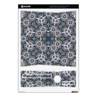 Abstract Pattern with color blue Xbox 360 S Skin
