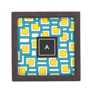 Abstract pattern with Monogram Jewelry Box