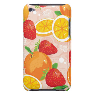 Abstract pattern with strawberry iPod touch case