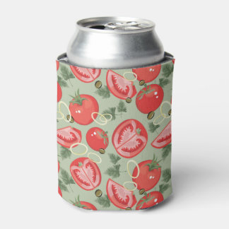 Abstract pattern with tomato can cooler