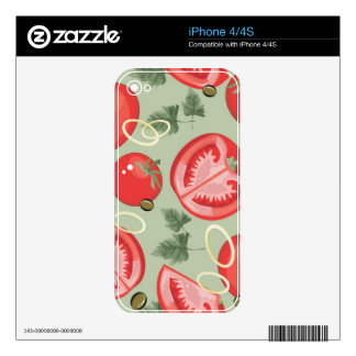 Abstract pattern with tomato iPhone 4 skins