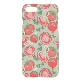 Abstract pattern with tomato iPhone 7 case