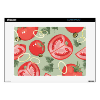 Abstract pattern with tomato laptop decal