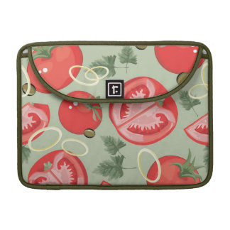 Abstract pattern with tomato sleeve for MacBooks