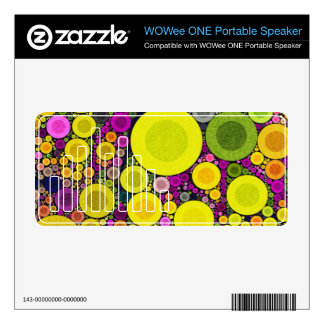 Abstract Pattern WOWEE Speaker Decals