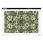 """Abstract Pattern yellow 17"""" Laptop Decals"""