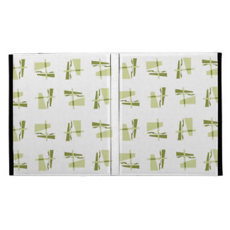 Abstract Pattern yellow brown iPad Folio Covers