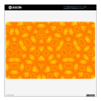 Abstract Pattern yellow orange Skin For MacBook