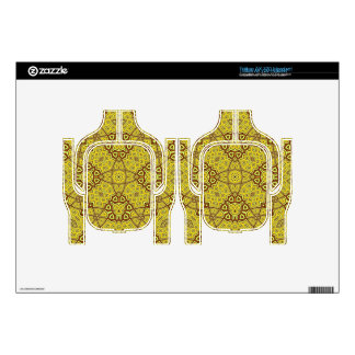 Abstract Pattern Yellow Headset Decal