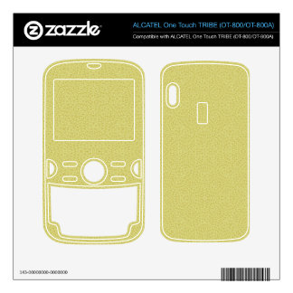 Abstract Pattern Yellow ALCATEL Tribe Skin