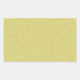 Abstract Pattern yellow Rectangular Sticker